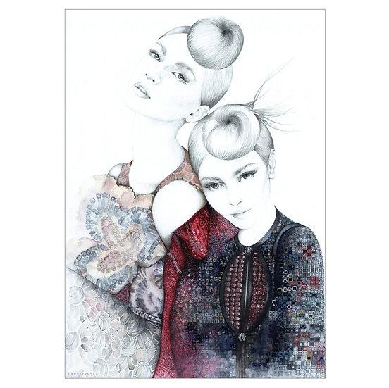 OPAL Fashion illustration 30c40cm
