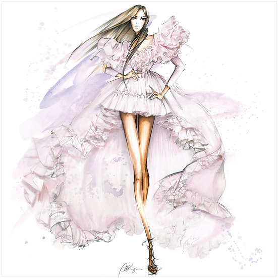 FASHION FIGURINE 6 Fashion Illustration 30x30cm