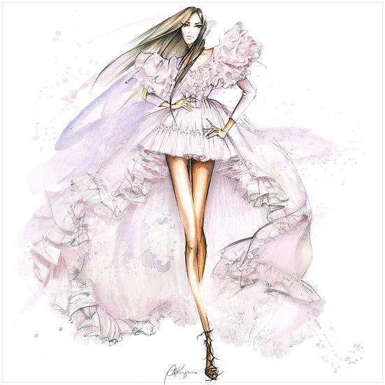 FASHION FIGURINE 6 Fashion Illustration 30x30cm