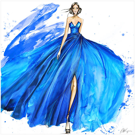 FASHION FIGURINE 8 Fashion Illustration 30x30cm