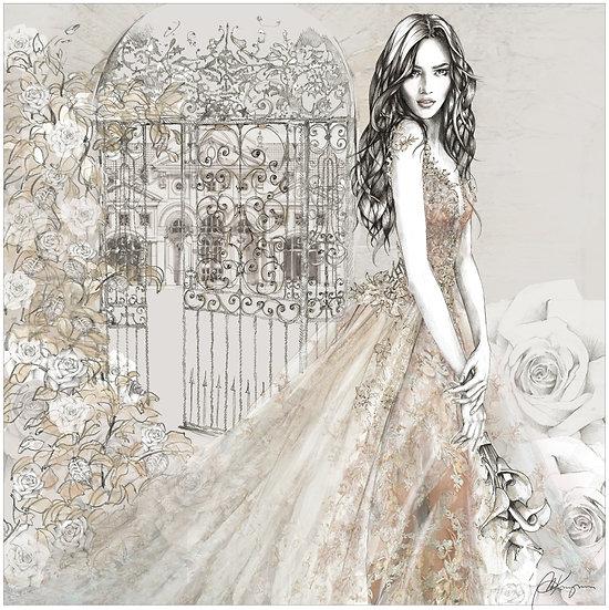 ROSE Fashion Illustration 40x40cm