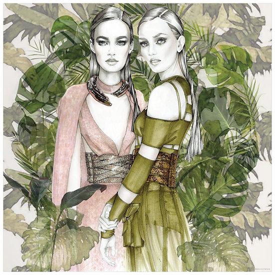 JADE  Fashion Illustration             40x40cm