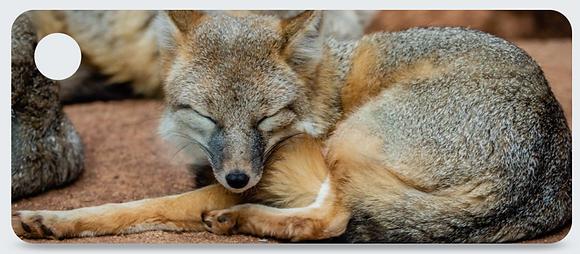 Silver Fox Keychain