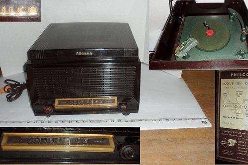 Philco Phono AM Tube Radio Combo Model 51-1330
