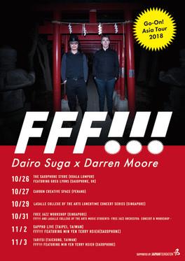 FFF!!! dairo suga*darren moore go-on! asia tour flyer