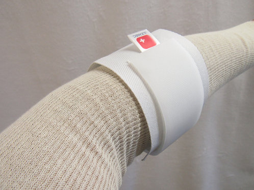 771 WHITE PADDED CANVAS AND ELASTIC TENNIS ELBOW SUPPORTS