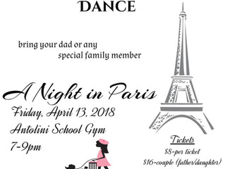 Father/Daughter Dance April 13th