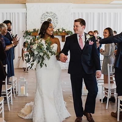 February Wedding in Atrium