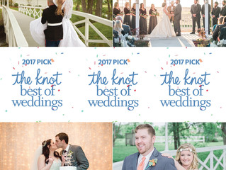 We are so proud to announce that we have been selected as one of The Knot's Best of Weddings for