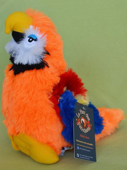 Peluche Perroquet Orange ou Vert