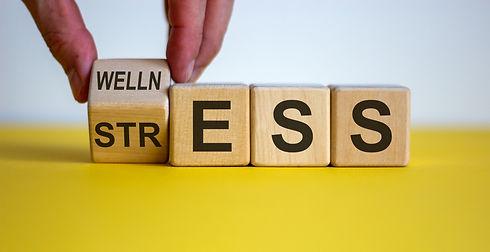 Wellness instead of stress. Hand turns a