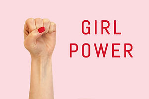 A woman hand on a pink background and in