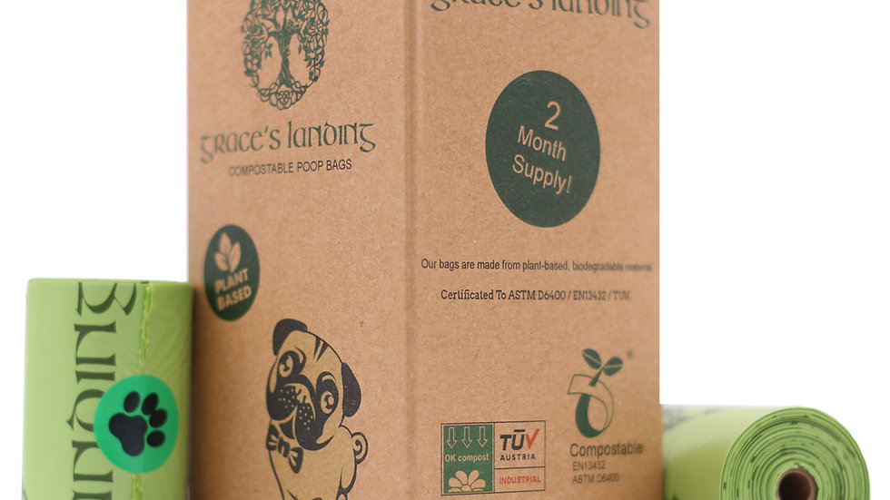 Biodegradable, Plant-Based Dog Poop and Cat Litter Bags