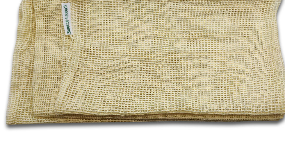 Reusable Organic Cotton Mesh Produce Bags