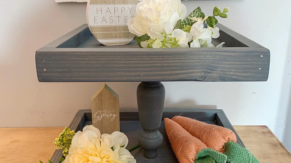 Two Tiered Tray- Framed