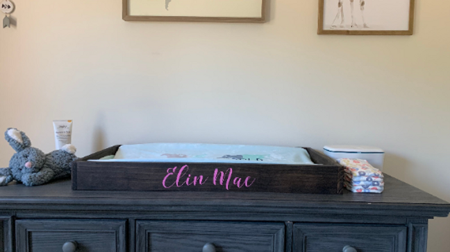 Customized Baby Changing Tray