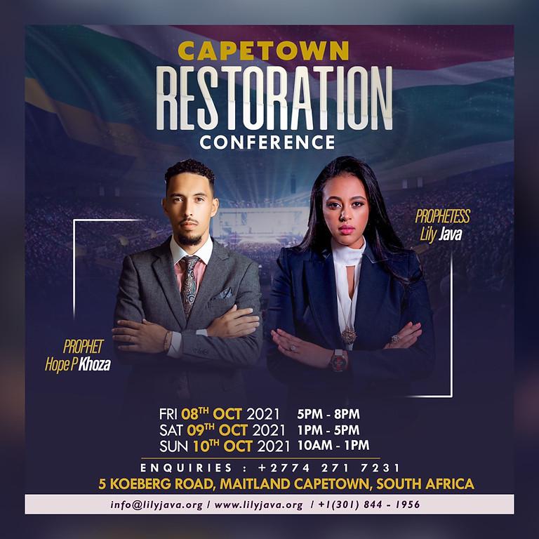 Restoration Conference with Prophet Hope Khoza