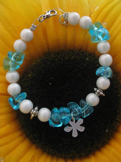Turquoise & Pearls Bracelet