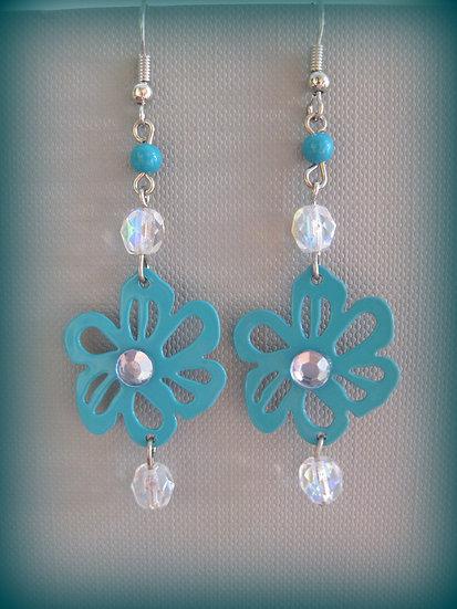 Turquoise Flowers Earrings