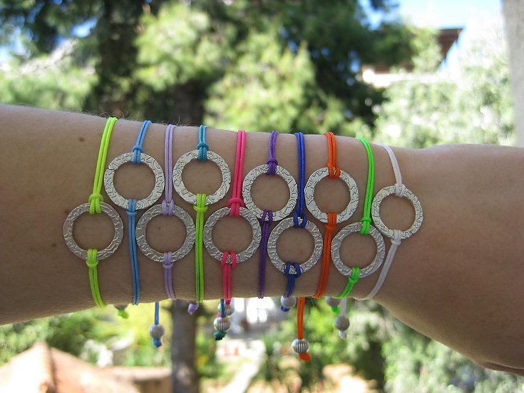 Minimal Hoop Macrame Bracelet
