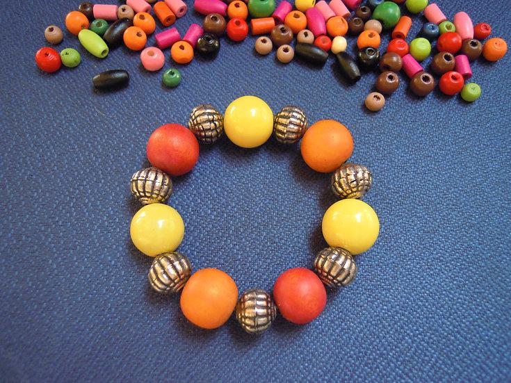 Yellow & Orange Elastic Bracelet