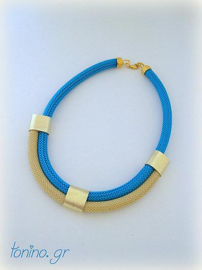 Turquoise-Beige x2 Statement Necklace