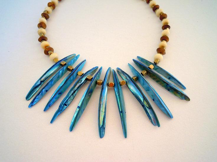 Boho Indian Necklace (Blue)