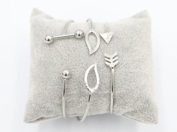 Leaf / Arrow Bracelet Set