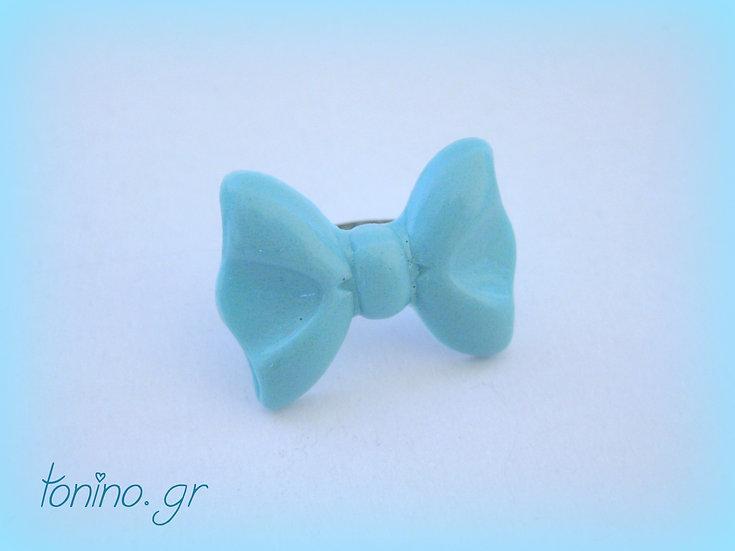 Bow Resin Ring - Light Blue