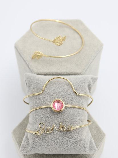 Pink Love Bracelet Set