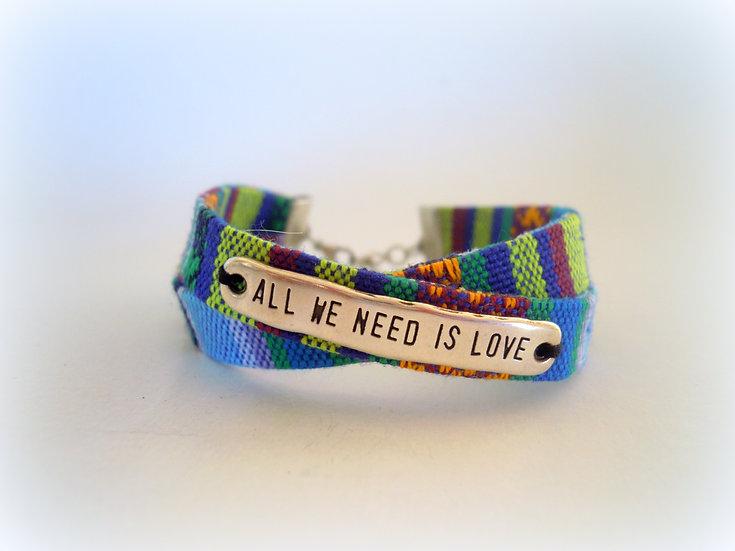 Boho Quotes Bracelet
