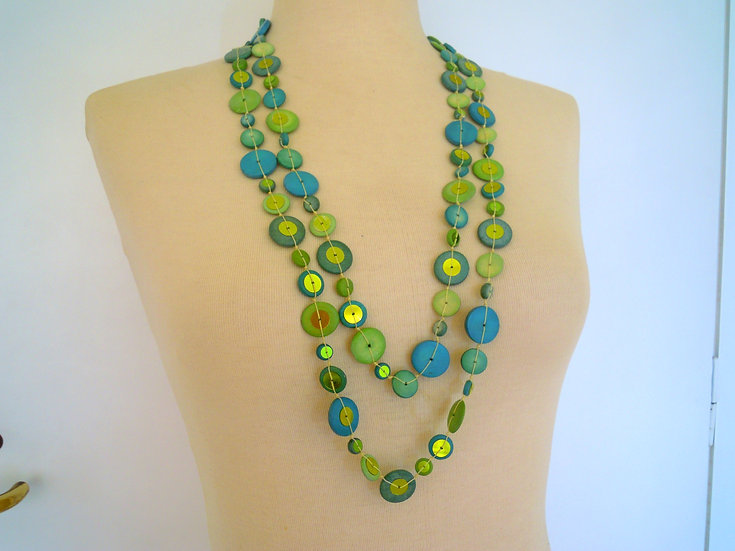 Green/Turquoise Long Necklace