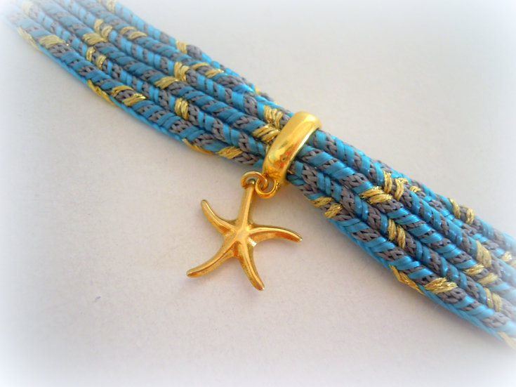 Starfish Ribbon Bracelet