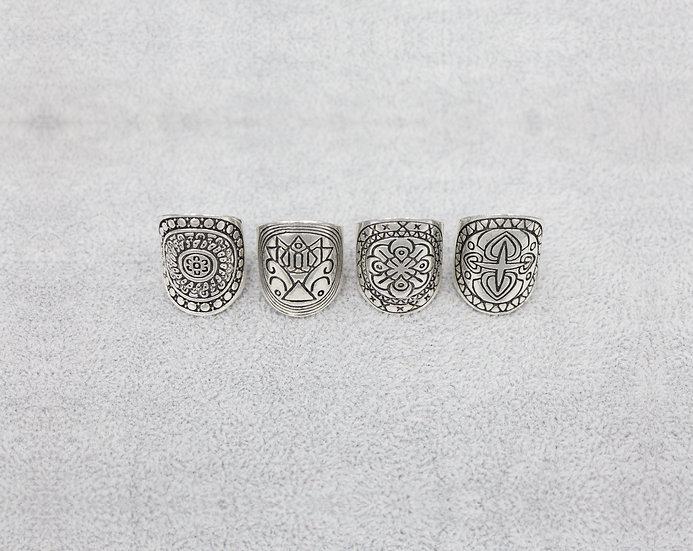 Boho/Rock Ring Set