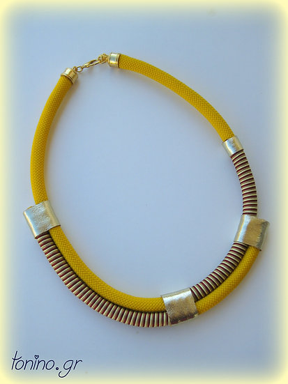 Yellow Temptation x2 Statement Necklace
