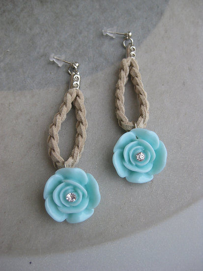 Mint Roses Earrings