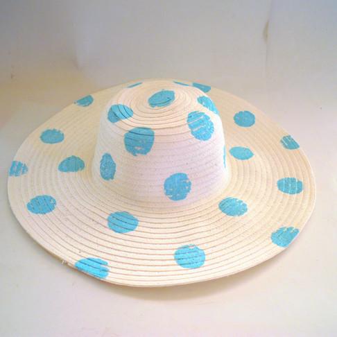 Πουά Ψάθινο Καπέλο