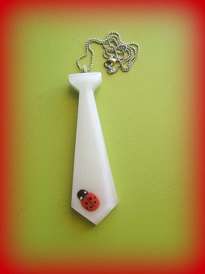 Ladybug Tie Resin Necklace