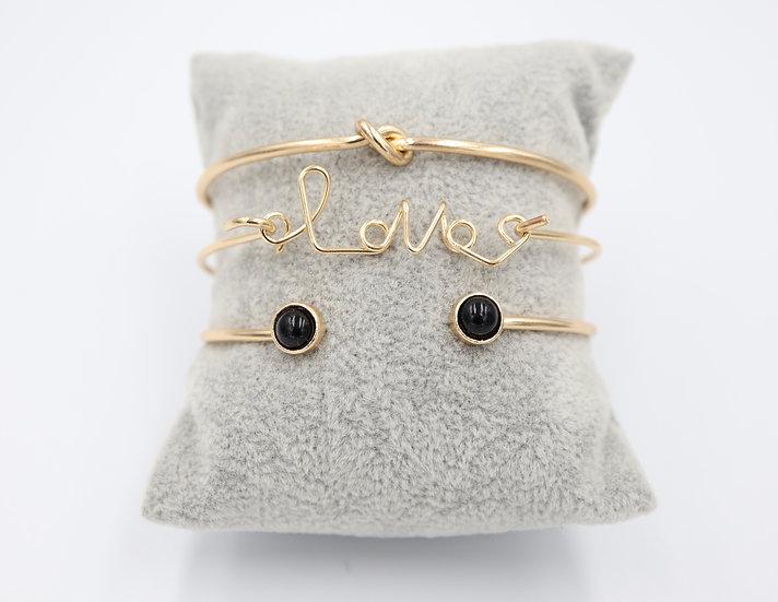 Black Love Bracelet Set