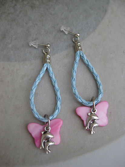 Coral Dolphins Earrings