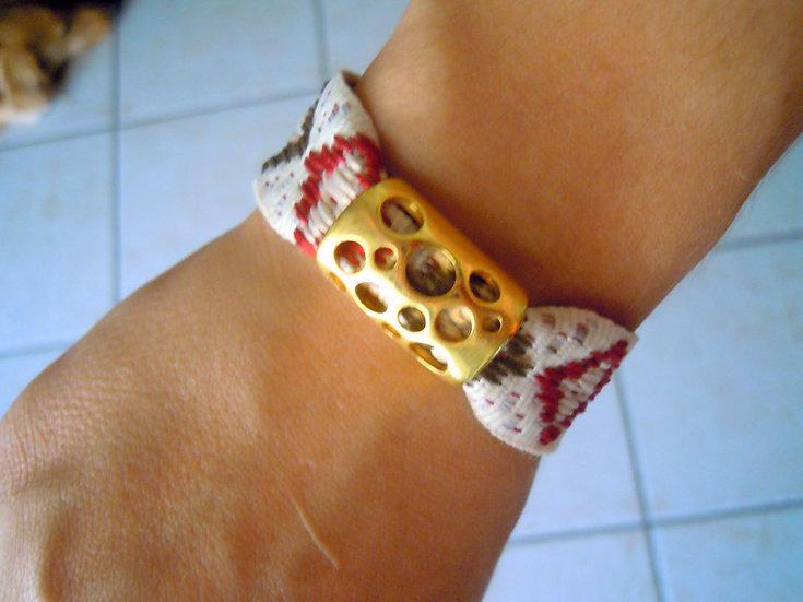 Gold Cheese Ribbon Bracelet