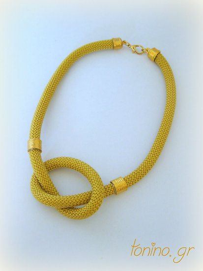 Gold Knot Statement Necklace