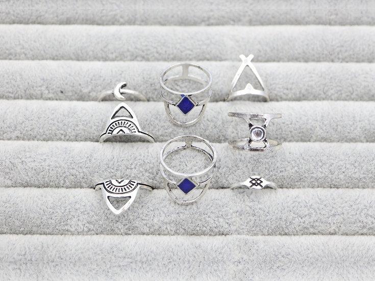 Blue Moon Ring Set