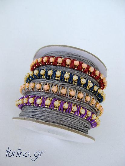 Stone Row Macrame Bracelet