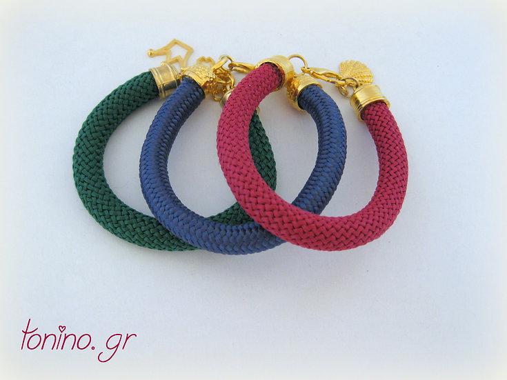 Gold Climbing Rope Bracelet