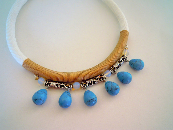 Bohemian Turquoise Statement Necklace