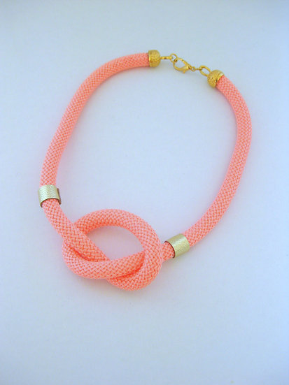 Coral Knot Statement Necklace