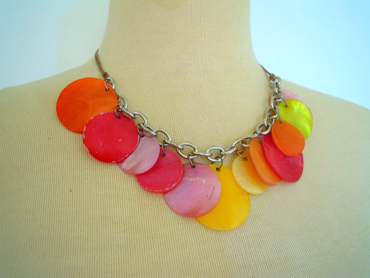 Colourful Circles Necklace