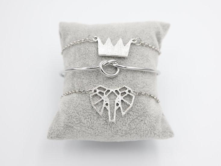 Elephant with a Crown Bracelet Set