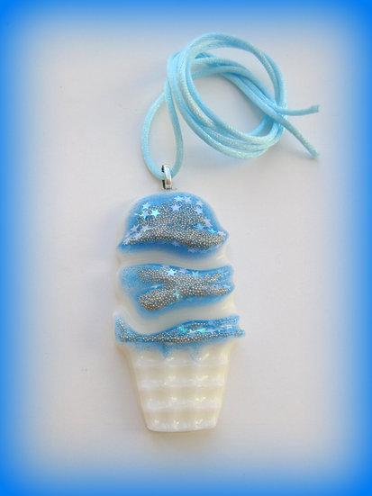 Glitter Ice Cream Resin Pendant